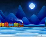 Obrázek - Vánoční vlak s dárky