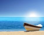 Obrázek - Lodička na překrásné pláži