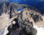 Obrázek - Horolezec na vrcholu Hory v Kanadě