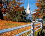 Obrázek - Kostel a překrásná podzimní neděle v Nové Anglii