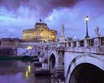Obrázek - Sant Angelo s mostem Řím Itálie