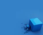Obrázek - Modré krychle v zajímavé abstrakci