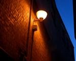 Obrázek - Pouliční lampa v noci