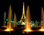 Obrázek - Eifelova věž zahalená vodotryskem