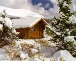 Obrázek - Kanadský srub v zimní Kanadě