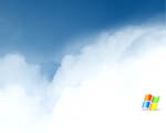 Obrázek - Staré známe logo Windows v oblacích