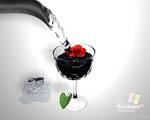Obrázek - Windows XP professional při skleničce čisté vody