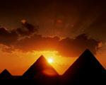 Obrázek - Pyramidy při západu slunce