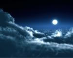Obrázek - Překrásný měsíc nad mraky