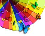 Obrázek - Barevná paleta plná motýlů