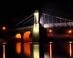 Obrázek - Krásně nasvícený most za tmy