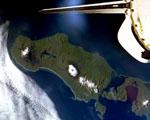 Obrázek - Pohled z raketoplánu na Galapádské ostrovy