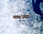 Obrázek - Vesmírná stanice ISS nad Quebecem