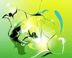 Obrázek - Zelenožluté souznění