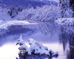 Zimní dovolená u jezera