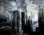Obrázek - Černobílé abstraktní město