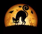 Obrázek - Halloweenská kočička
