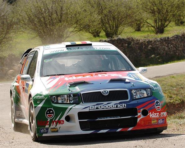 Obrázek na plochu v rozlišení 1280 x 1024 - Škoda Fabia rally Catalunya