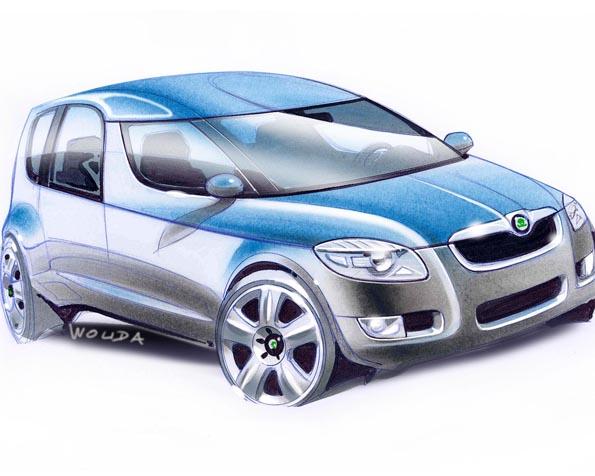 Obrázek na plochu v rozlišení 1280 x 1024 - Škoda Roomster design
