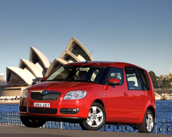 Obrázek na plochu v rozlišení 1280 x 1024 - Škoda Roomster v Sydney