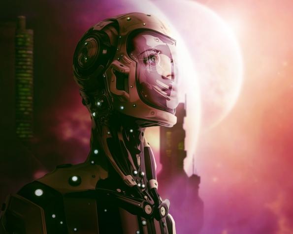 Obrázek na plochu v rozlišení 1280 x 1024 - Vesmírná žena