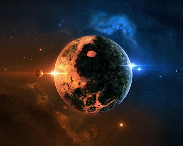 Obrázek na plochu v rozlišení 1280 x 1024 - Záře jedné překrásné planety