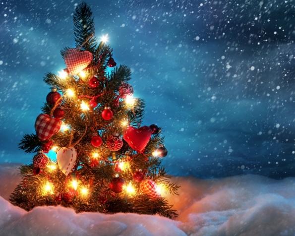 Obrázek na plochu v rozlišení 1280 x 1024 - Překrásný vánoční stromek