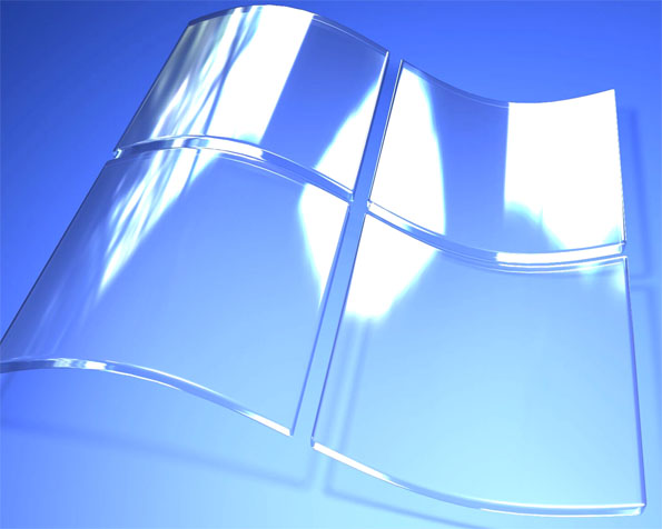 Volba: tapeta v rozlišení 1280 x 1024 - Skleněné logo Windows