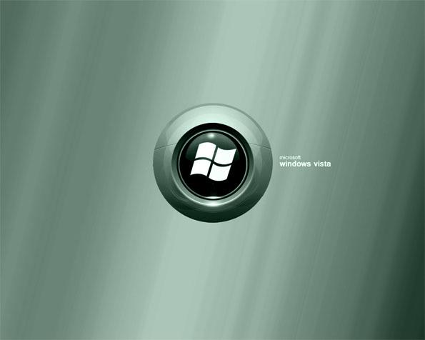 Volba: tapeta v rozlišení 1280 x 1024 - Logo Windows Vista