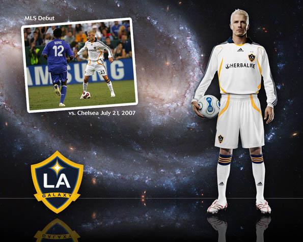 Obrázek na plochu v rozlišení 1280 x 1024 - David Beckham LA Galaxy tým