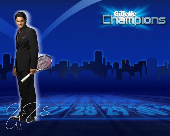 Obrázek na plochu v rozlišení 1280 x 1024 - Roger Federer Gillette Champion