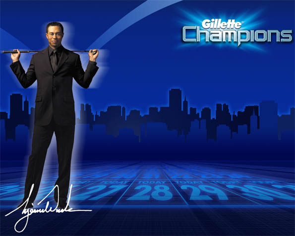 Volba: tapeta v rozlišení 1280 x 1024 - Tiger Woods Gillette Champion
