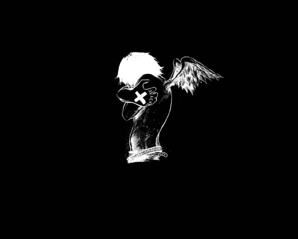 Volba: tapeta v rozlišení 1280 x 1024 - Padlý anděl plný EMOcí