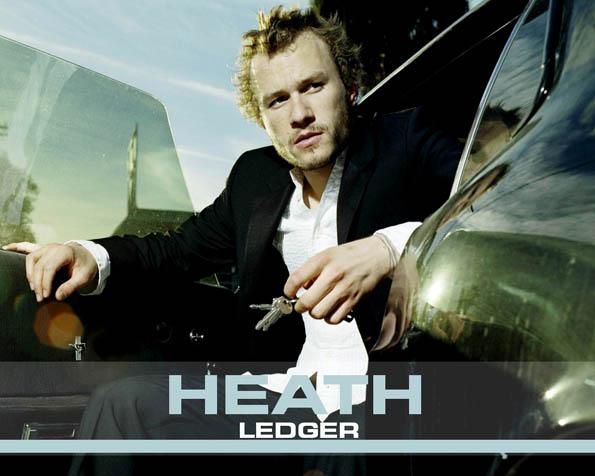 Obrázek na plochu v rozlišení 1280 x 1024 - Heath Ledger v Mustangu