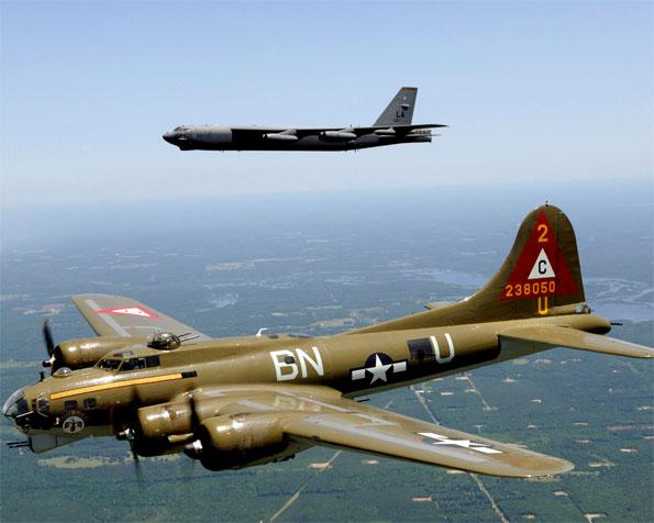 Volba: tapeta v rozlišení 1280 x 1024 - Bombardér B-17G letajici pevnost