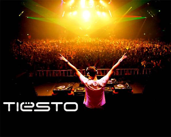 Obrázek na plochu v rozlišení 1280 x 1024 - Tiesto DJ na pódiu