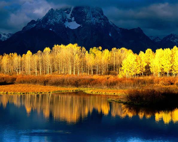 Obrázek na plochu v rozlišení 1280 x 1024 - Aspen hora Grand Tetons ve Wyomingu