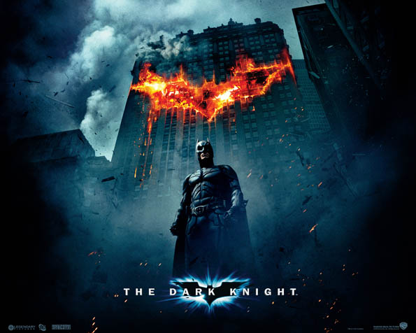 Obrázek na plochu v rozlišení 1280 x 1024 - Logo Batmana vypálené v budově
