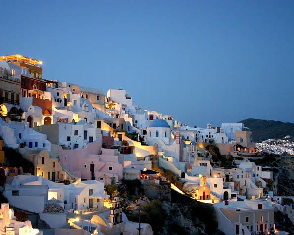 Volba: tapeta v rozlišení 1280 x 1024 - Řecké městečko