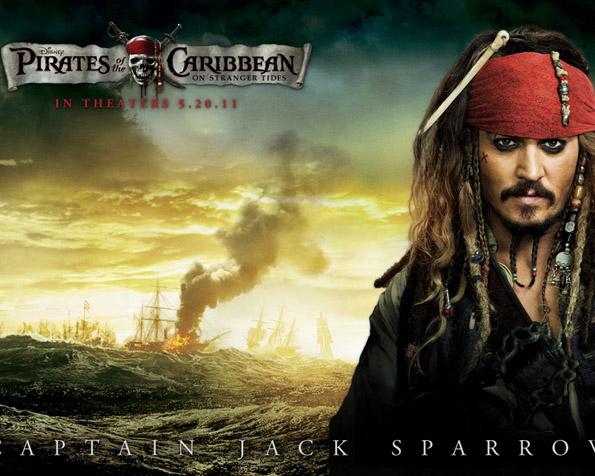 Obrázek na plochu v rozlišení 1280 x 1024 - Johnny Depp ve filmu Piráti z Karibiku