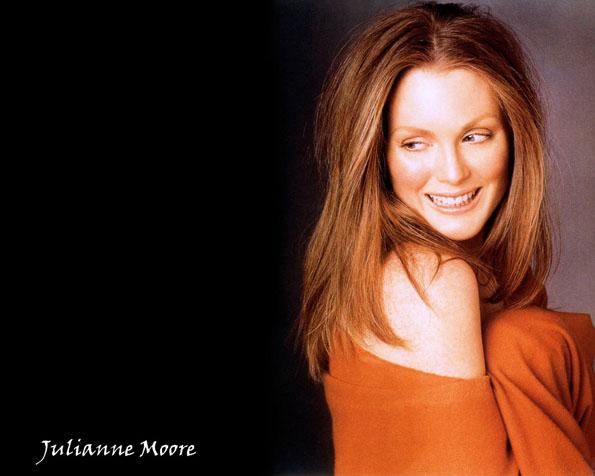 Obr�zek na plochu v rozli�en� 1280 x 1024 - Julianne Moore a oran�ov� m�k� deka