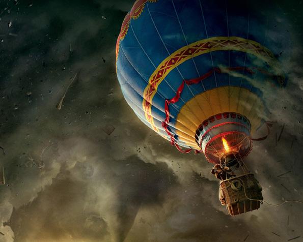 Obrázek na plochu v rozlišení 1280 x 1024 - Velké dobrodružství v balónu