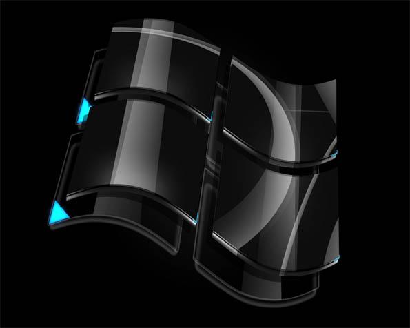 Volba: tapeta v rozlišení 1280 x 1024 - Černé logo Windows