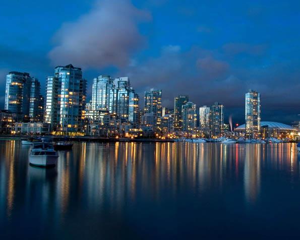 Volba: tapeta v rozlišení 1280 x 1024 - Krásný noční výhled na přístav