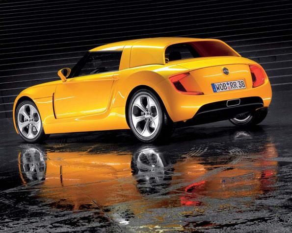 Obrázek na plochu v rozlišení 1280 x 1024 - Žlutý Volkswagen Ecoracer
