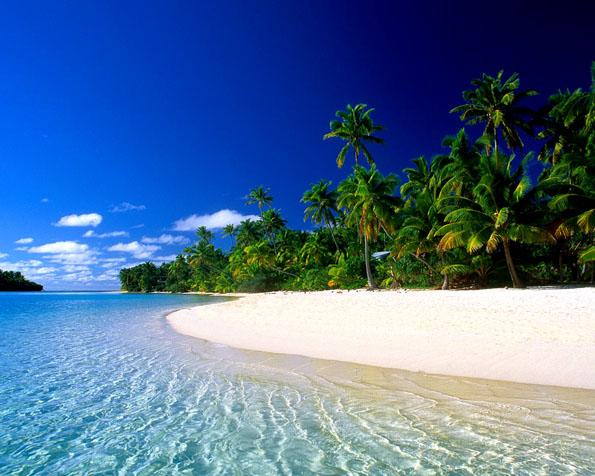 Obrázek na plochu v rozlišení 1280 x 1024 - Zájezdy k moři na Cookovy ostrovy