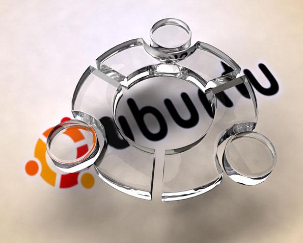 Volba: tapeta v rozlišení 1280 x 1024 - Skleněné logo Ubuntu