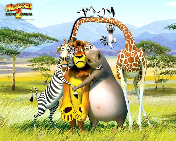 Obrázek na plochu v rozlišení 1280 x 1024 - Madagaskar útěk do Afriky