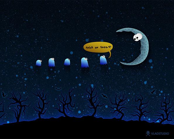 Obrázek na plochu v rozlišení 1280 x 1024 - Halloween a večerní koleda