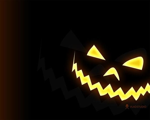 Obrázek na plochu v rozlišení 1280 x 1024 - Strašidelná maska z dýně na Halloween